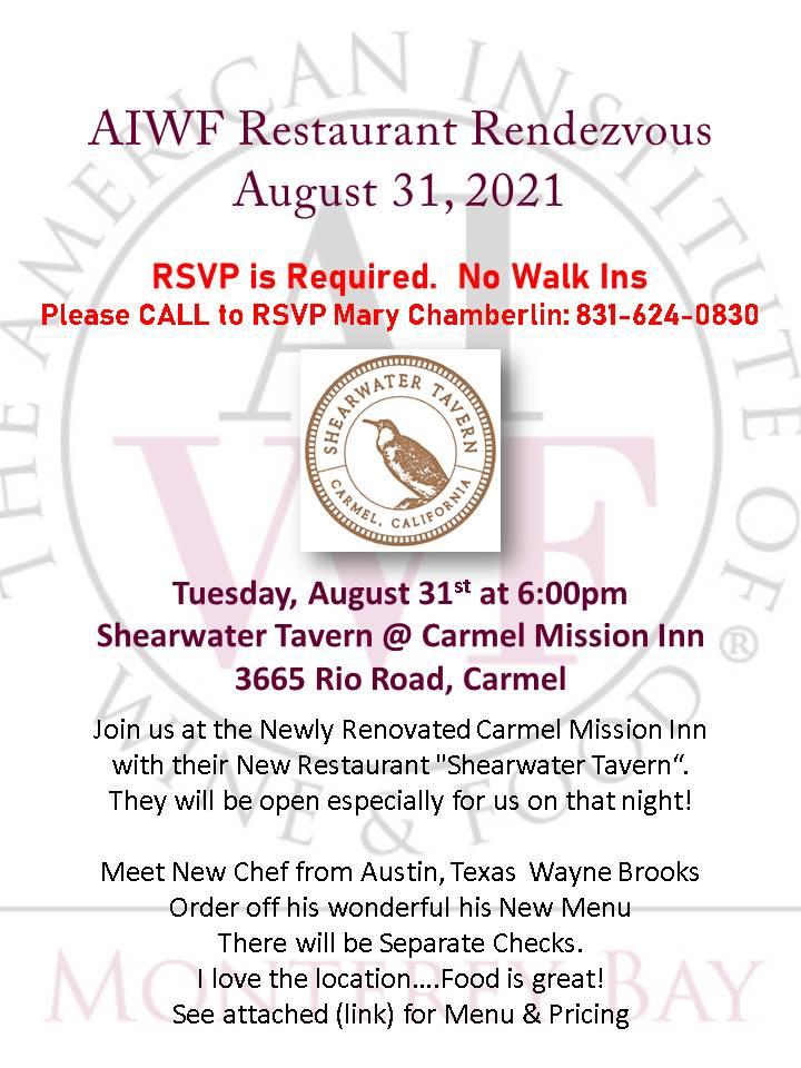 AIWF RR Shearwater Tavern Aug 31 2021