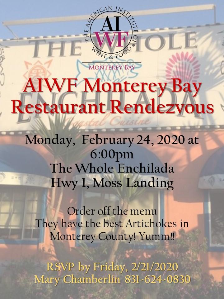 AIWF Restaurant Rendezvous February 24 2020